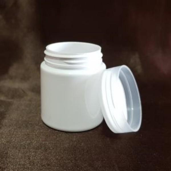 Borcan alb din plastic, 30 ml