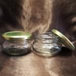 Borcan Aura din sticlă transparentă, 120 ml