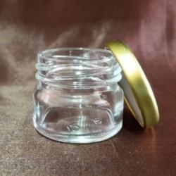 Borcan Aura din sticlă transparentă, 30 ml