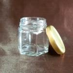 Borcan Aura din sticlă transparentă, 50 ml