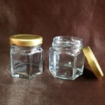 Borcan Aura din sticla transparenta, 50 ml