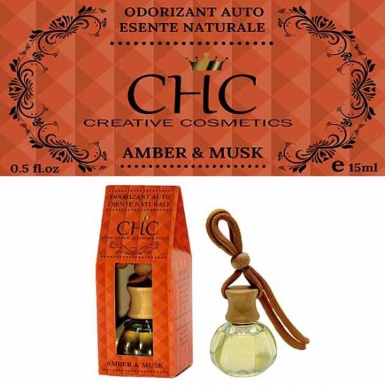 Odorizant auto, Amber & Musk, 15 ml