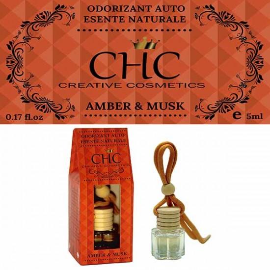 Odorizant auto, Amber & Musk, 5 ml