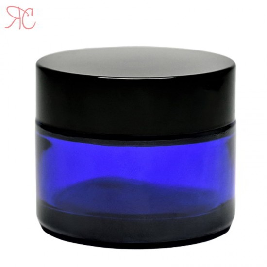 Borcan din sticla albastra, 30 ml