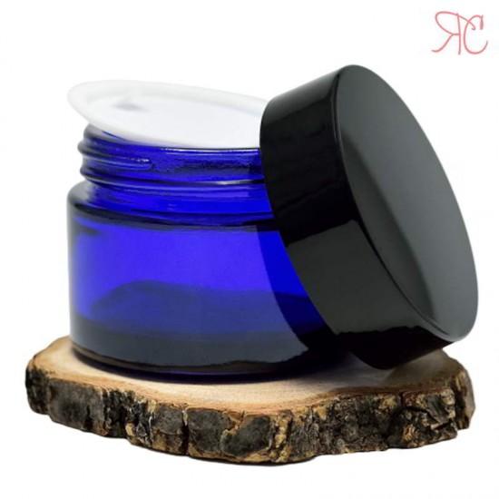 Borcan din sticla albastra, 50 ml