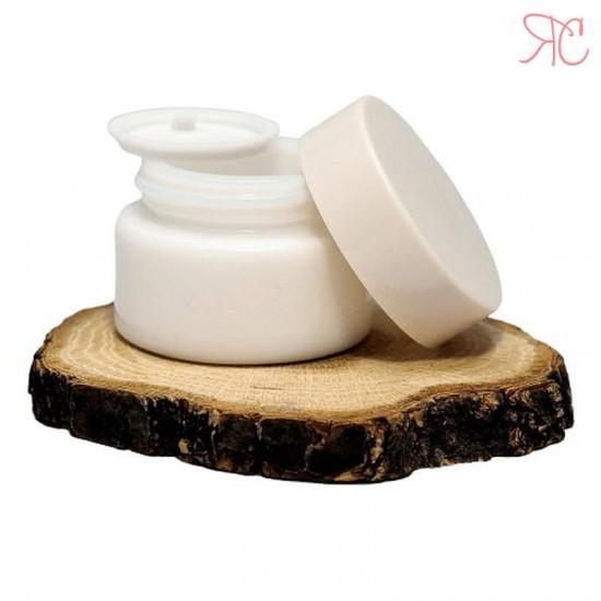 Borcan alb din ceramica, 15 ml
