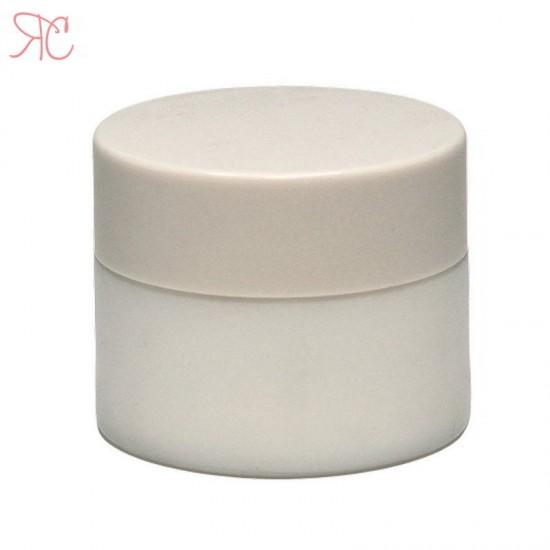 Borcan alb din ceramica, 20 ml