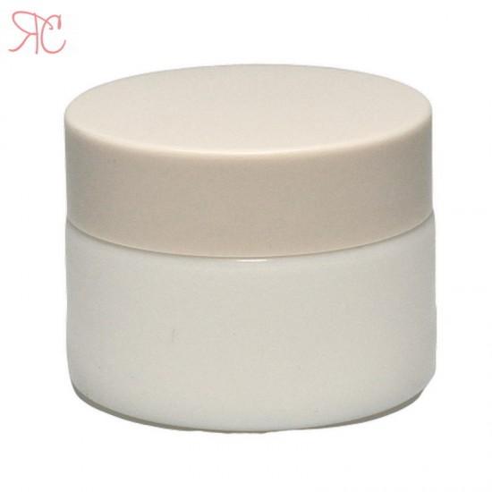 Borcan alb din ceramica, 30 ml