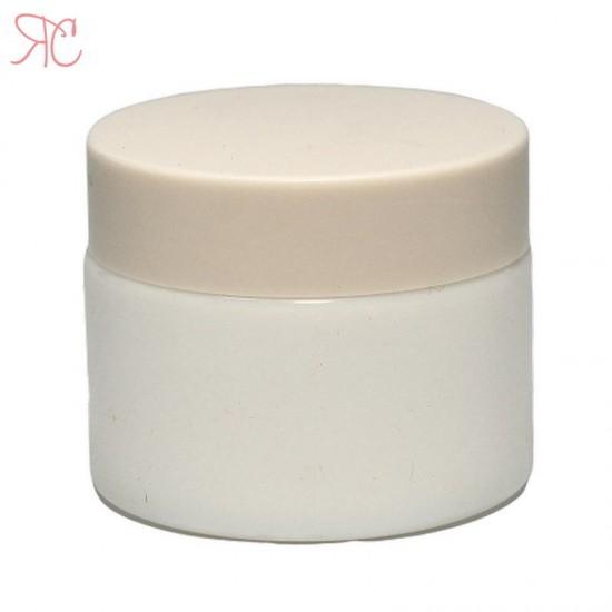 Borcan alb din ceramica, 50 ml
