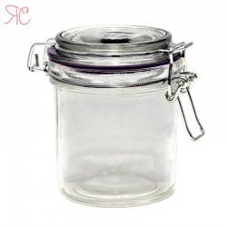 Glass jar with cap wire 300 ml