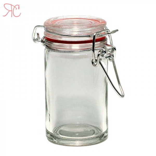 Glass jar with cap wire 80 ml