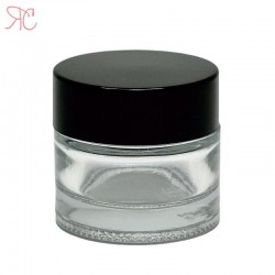 Borcan din sticla transparenta, 10 ml