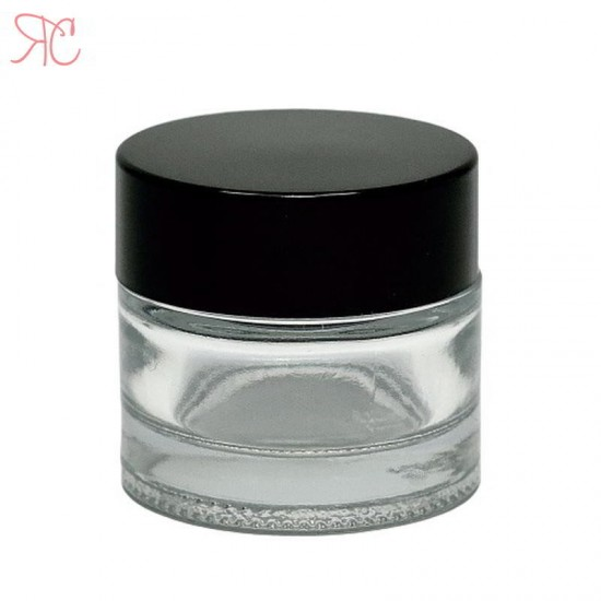 Borcan din sticla transparenta, 10 ml
