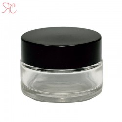 Borcan din sticla transparenta, 20 ml