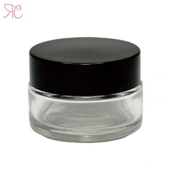 Borcan din sticla transparenta, 20 ml