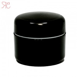 Black plastic jar, 5 ml