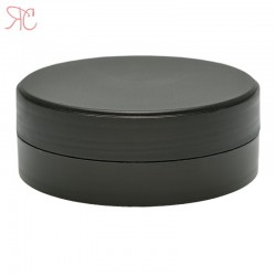 Black plastic jar, 100 ml