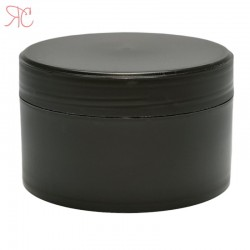 Black plastic jar, 200 ml