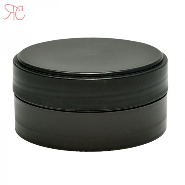 Black plastic jar, 50 ml