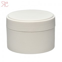 White plastic jar, 100 ml