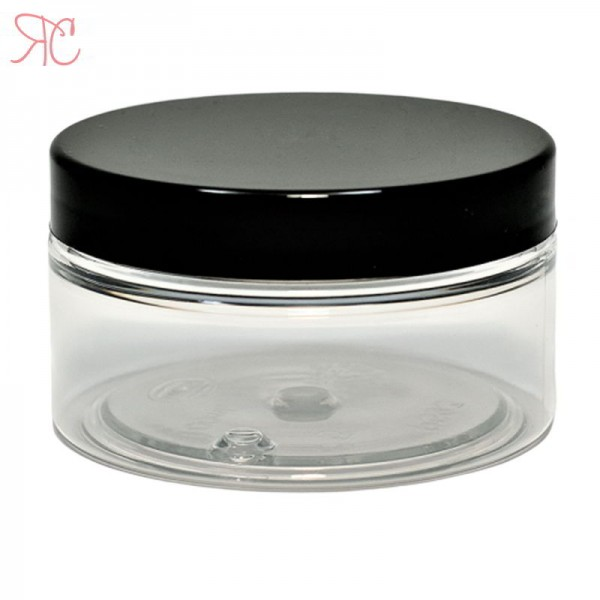 Transparent plastic jar, 100 ml