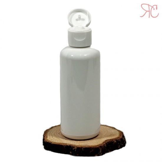 Flacon alb opac, capac flip-top, 100 ml