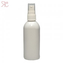 White plastic bottle for light lotions, 125 ml