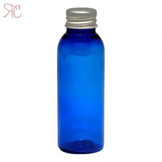 Flacon albastru, capac aluminiu, 50 ml