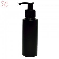 Black plastic bottle with dosing pump, 100 ml