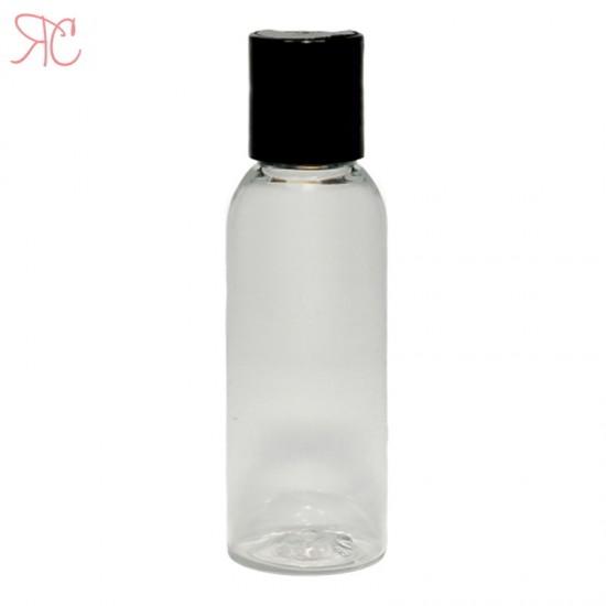 Flacon transparent, capac disc-top, 50 ml