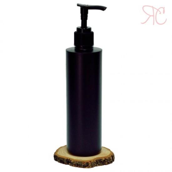 Flacon negru cu pompa dozatoare, 250 ml