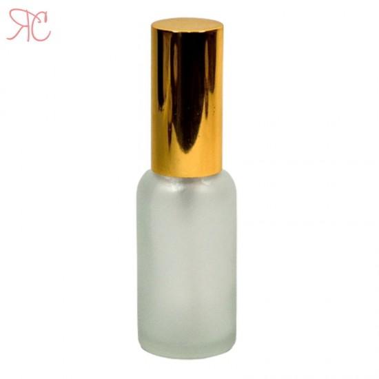 Sticla alba frosted cu pompa lotiuni Gold, 30 ml