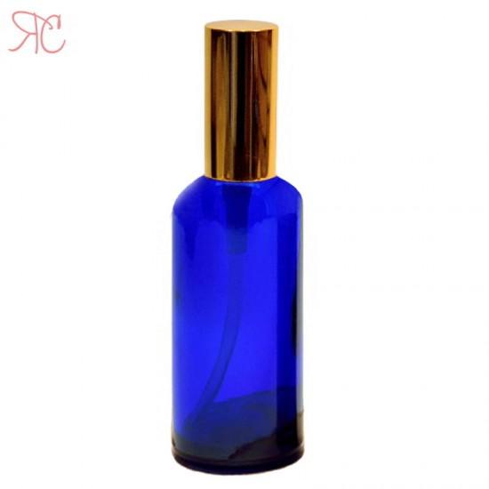 Sticla albastra cu pompa lotiuni Gold, 100 ml