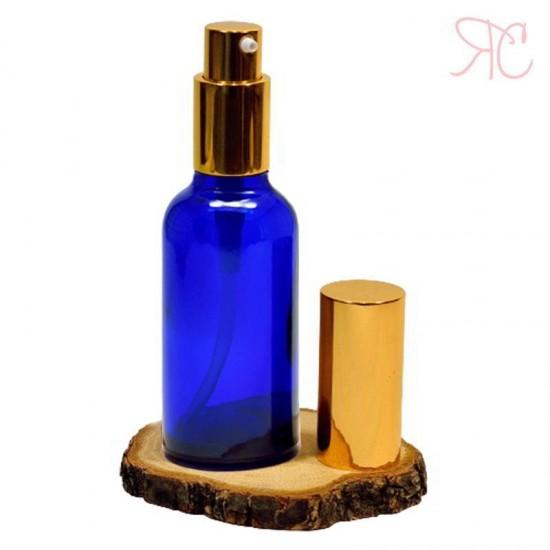 Sticla albastra cu pompa lotiuni Gold, 50 ml