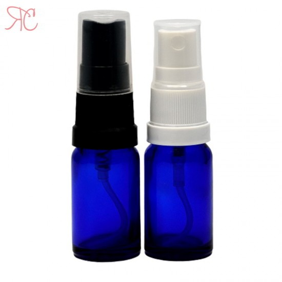 Sticla albastra cu pompa spray, 10 ml