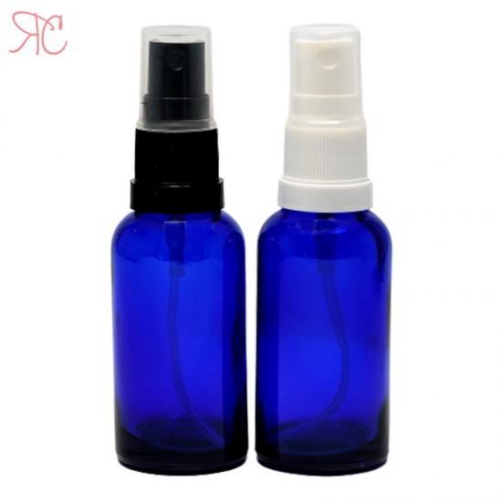 Sticla albastra cu pompa spray, 30 ml