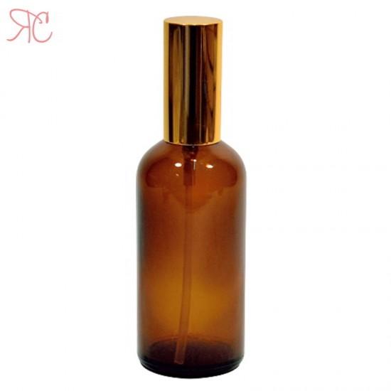 Sticla ambra cu pompa lotiuni Gold, 100 ml