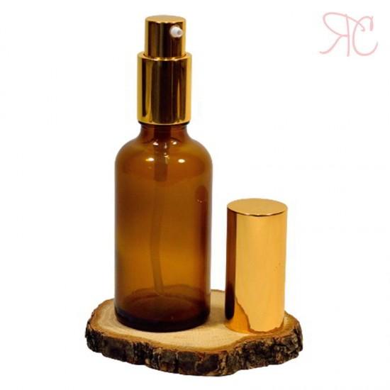 Sticla ambra cu pompa lotiuni Gold, 50 ml