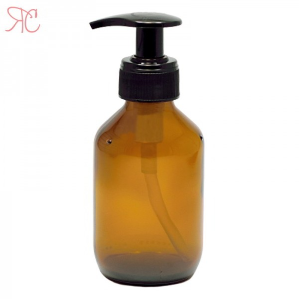 Amber glass with dosing pump, 150 ml