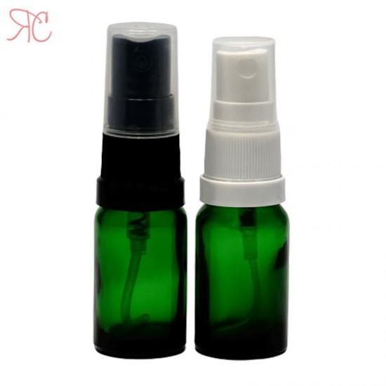 Sticla verde cu pompa spray, 10 ml