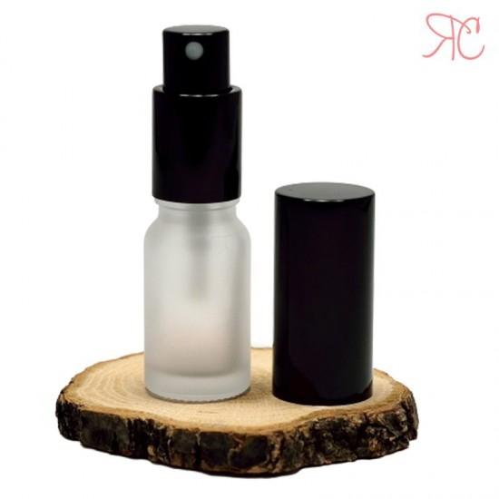 Sticla alba frosted cu pompa pulverizatoare Black, 10 ml