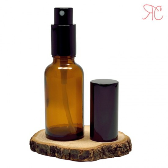Sticla ambra cu pompa pulverizatoare Black, 30 ml