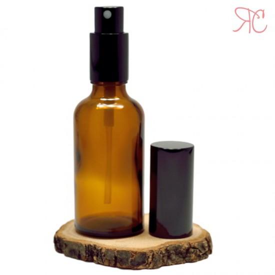 Sticla ambra cu pompa pulverizatoare Black, 50 ml