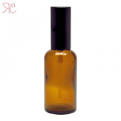 Amber glass bottle with perfume spray, 50 ml