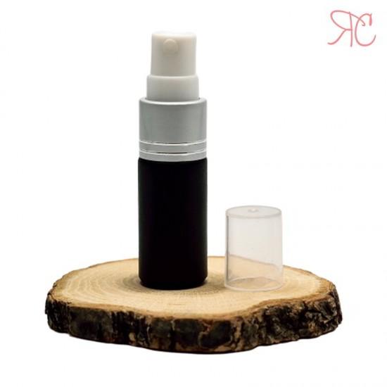 Recipient din sticla neagra cu pompa pulverizatoare, 5 ml