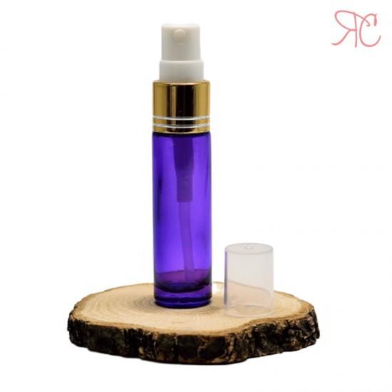 Recipient din sticla violet cu pompa pulverizatoare, 10 ml