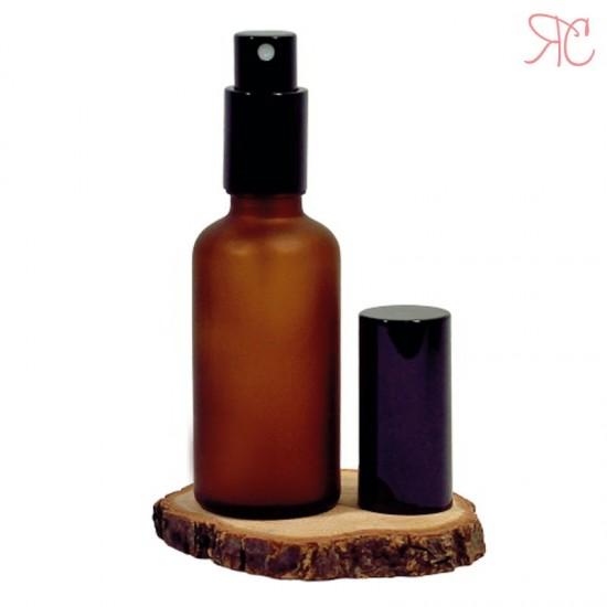 Sticla ambra frosted cu pompa pulverizatoare Black, 50 ml