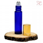 Blue glass roll-on bottle, 10 ml
