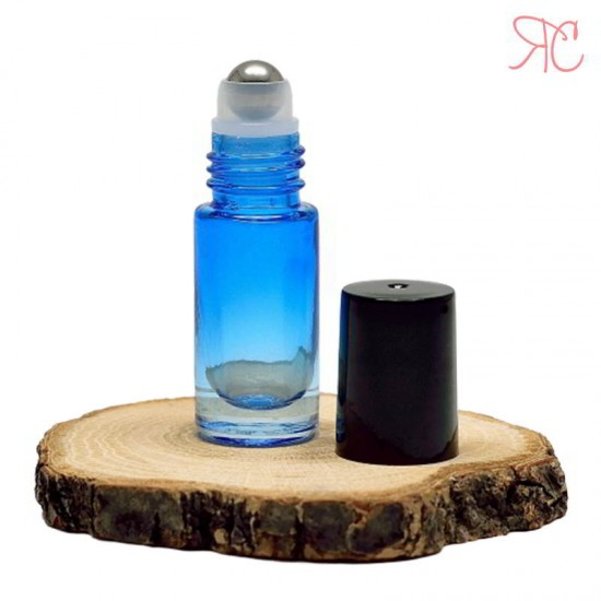 Recipient roll-on albastru in degrade, 5 ml