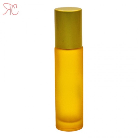 Recipient roll-on galben frosted, 10 ml